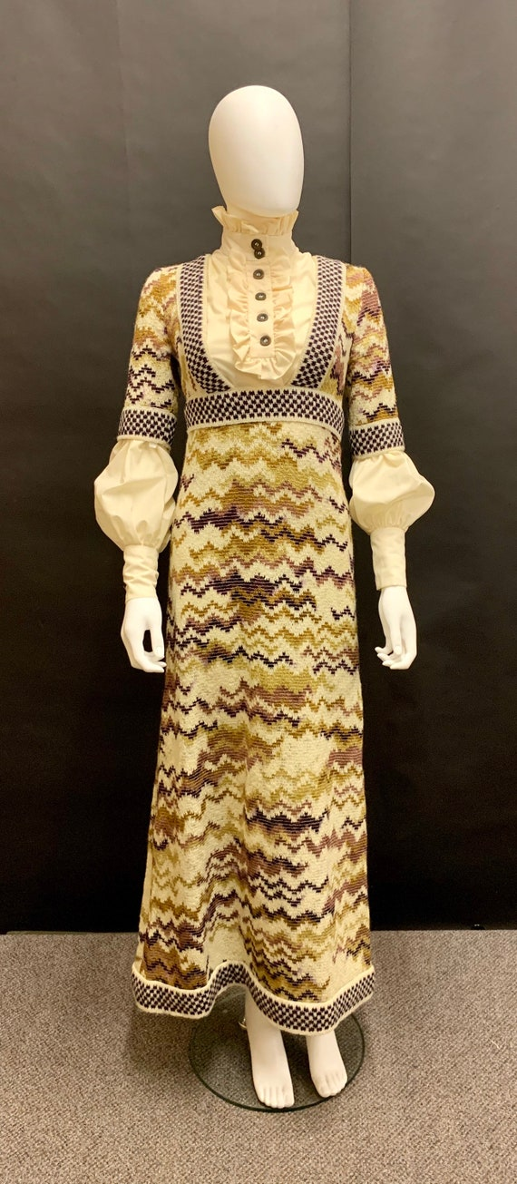 """Stunning 1970's """"jean varon"""" dress and blouse comb"""
