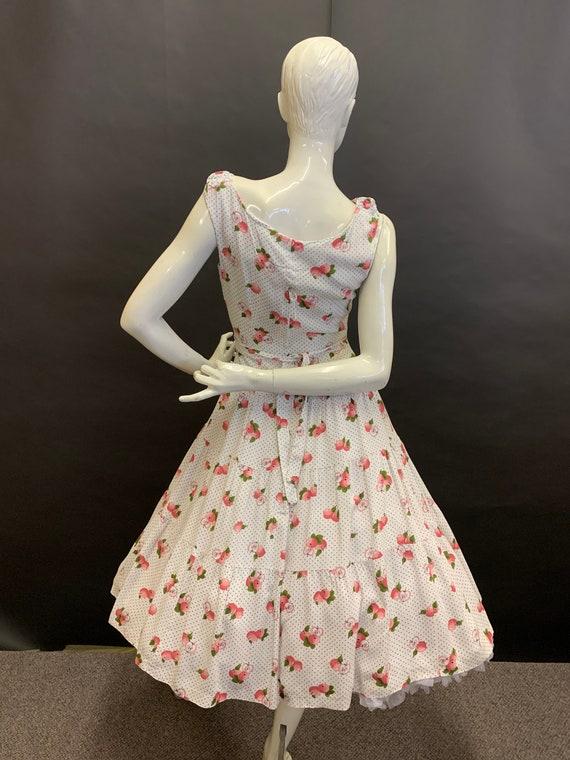Novelty print 50's dress - image 5