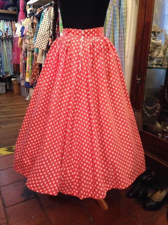 Pretty 1950s cotton skirt