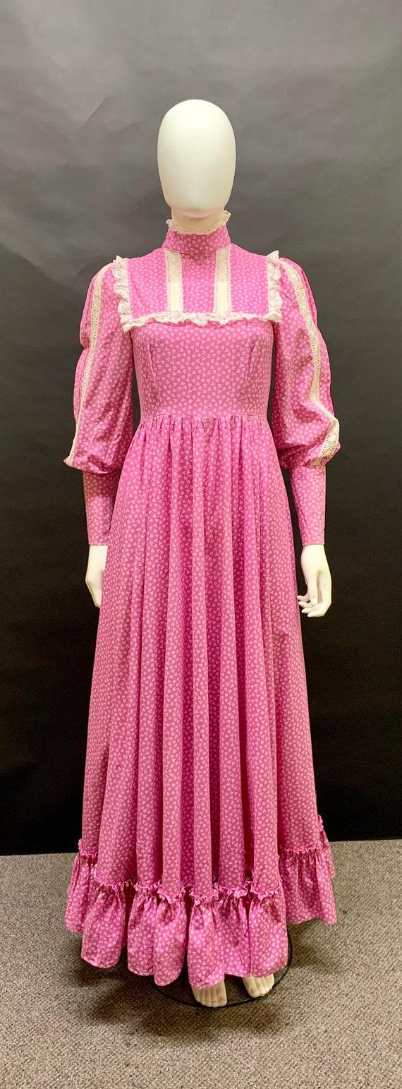 """Gorgeous 1970s """"Laura Ashley"""" prairie dress"""