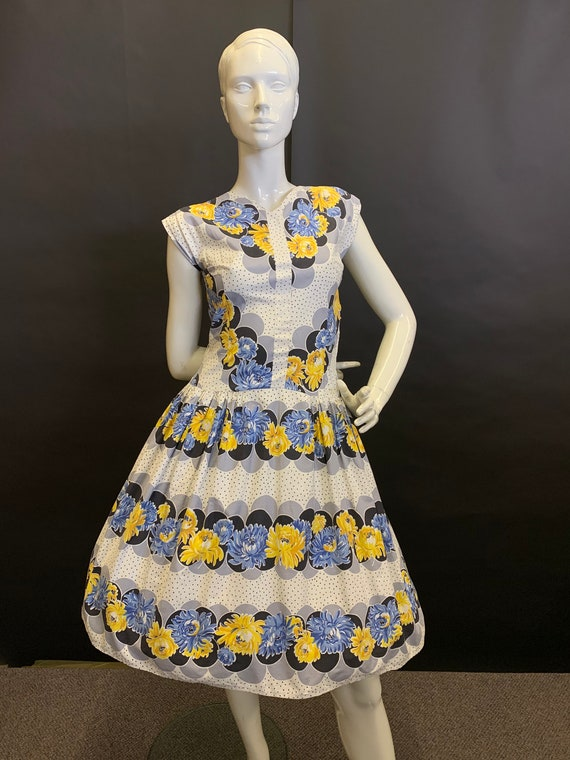 50's cotton day dress