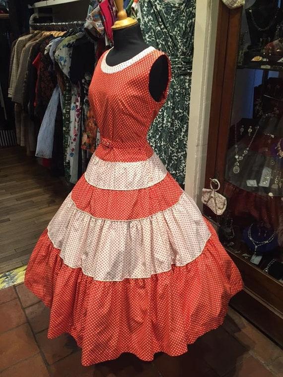 STUNNING 1950s pinup dress - image 2