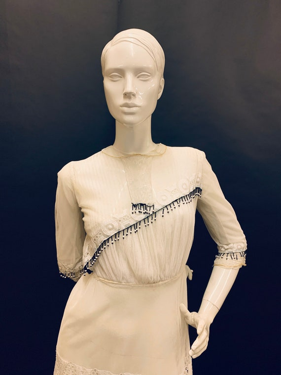 Edwardian hand embroidered dress - image 2