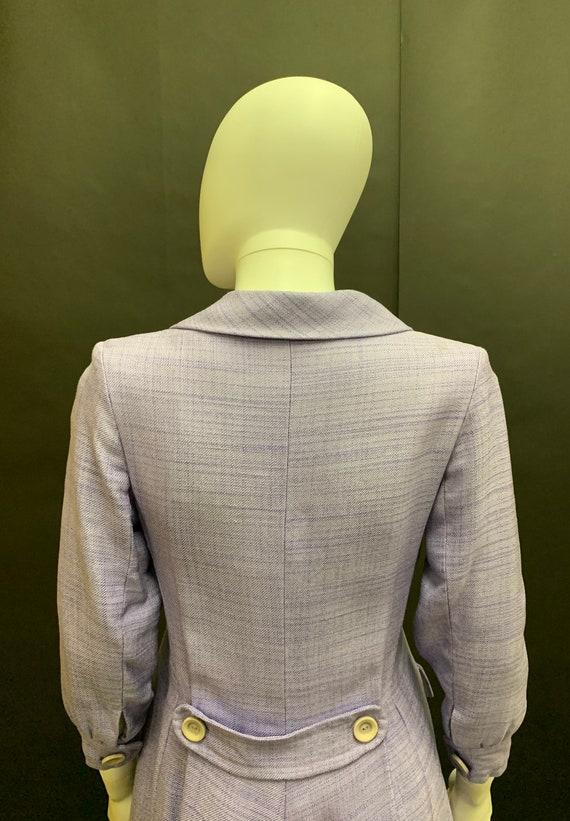 "Beautiful lavender ""Hardy Amies"" linen coat dress"