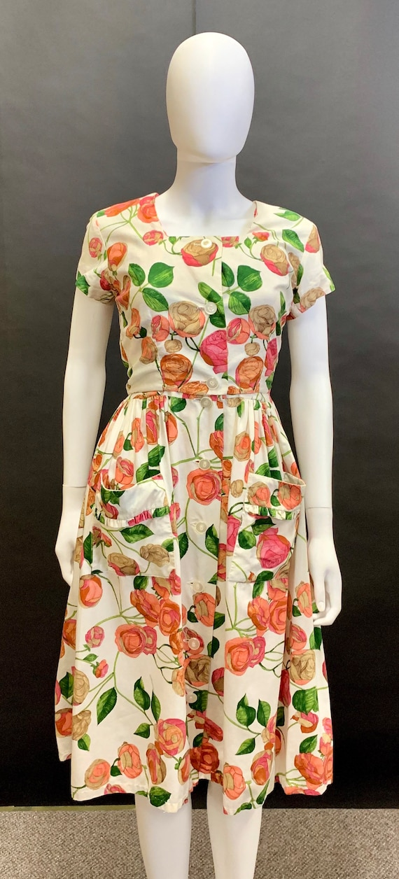 1940s cotton 2 piece