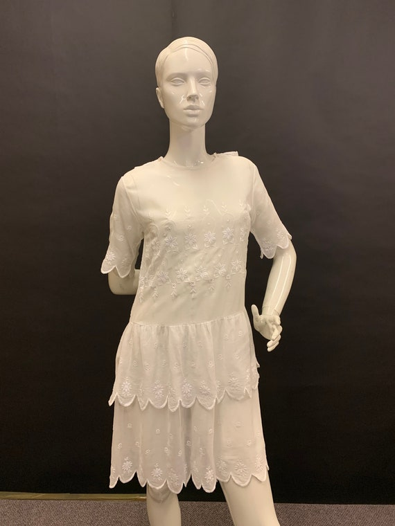 1920s lawn summer dress