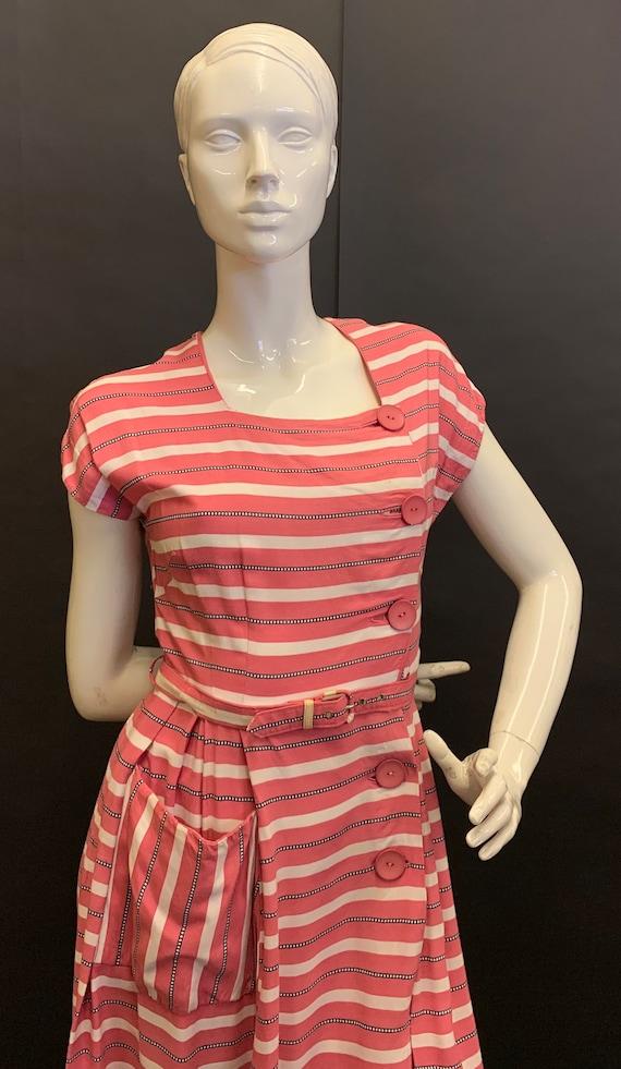 1940s cotton day dress - image 2