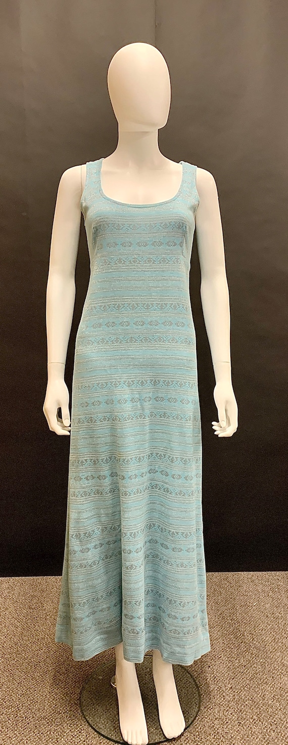1960s knitted lurex maxi