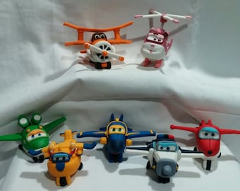 Super Wing Airplanes Characters - 3D Fondant toppers- Cute planes just made them for your birthday!