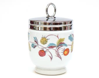 Royal Worcester, Egg Coddler, Strawberry Porcelain, Gift for Her, Collectible