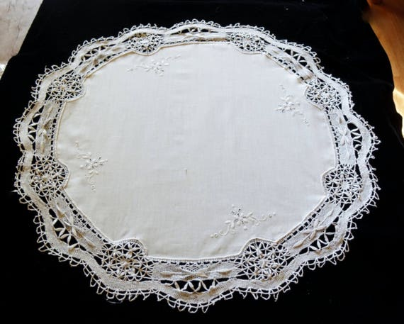 Vintage Wedding Decor Cake Tablecloth Large Hand Made Etsy