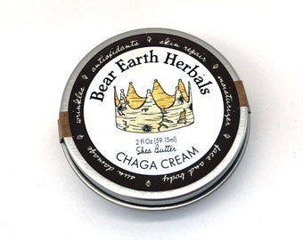 Chaga Cream - Anti-aging Organic Shea Butter Moisturizer for face, hands and body with wild harvested Chaga Mushrooms and Frankincense