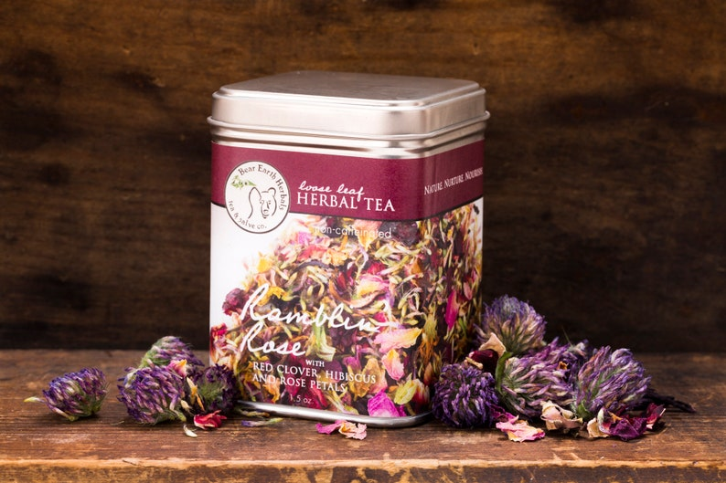 Red Clover Loose Leaf Tea Herbal Ramblin Rose Tea With Etsy