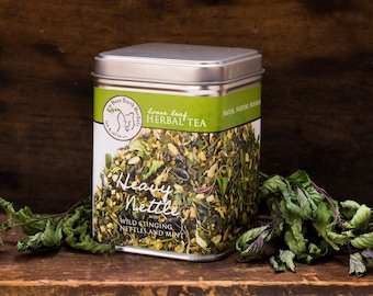 Heavy Nettle Tea, Organic Green Tea with Stinging Nettles, Loose Leaf Herbal Tea with Organic and Wild Harvested Herbs, Allergy Relief