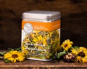 Sunshine Daydream Tea- Lemon Balm Herbal Tea with Wild Mint and Calendula- Relaxing, Calming - Insomnia, Anxiety - Loose Herbal Tea - Mint