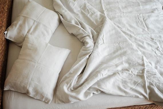 light gray duvet cover queen bedding natural linen linen etsy. Black Bedroom Furniture Sets. Home Design Ideas
