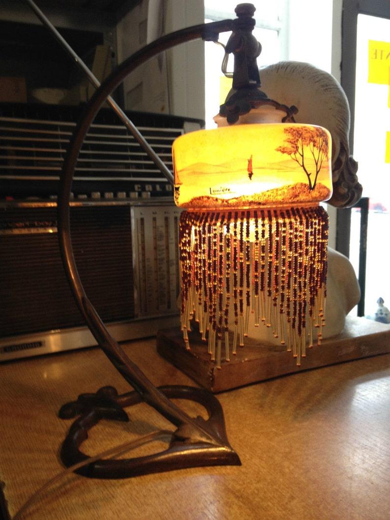 Schöne Antike Schwere Jugendstil Tischlampe Aus Bronze Metallobjekte Antike Originale Vor 1945