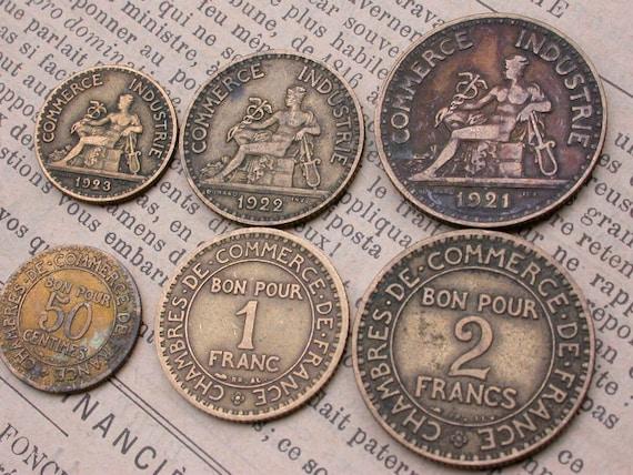 6st Französischen Münzen Alte Münzen Der 1920er Jahre Zu 1939s Sammelbare Art Deco Periode Münzen Jahrgang Charme Der Alten