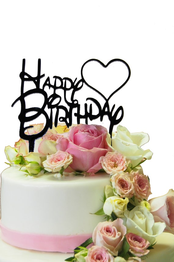 Cake topper Torten Deko Happy Birthday Geburtstagskuchen | Etsy
