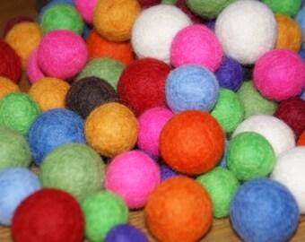 Felt balls your color mix