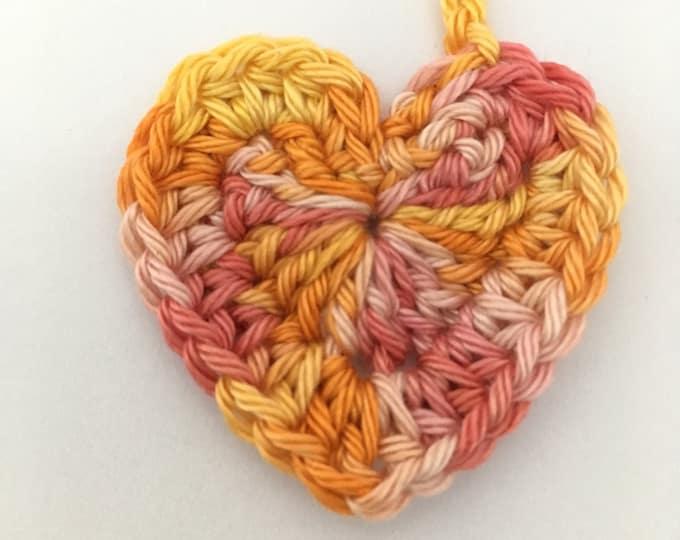 Heart Tiny Ties - Umbilical Cord Tie - Multicoloured Lemon Yellow Orange Peach Pink Neutral - Made & Ready to go