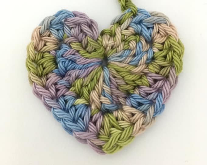Heart Tiny Ties - Umbilical Cord Tie - Multicoloured Lilac Sage Green Blue Neutral