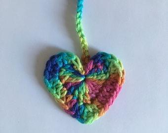 Rainbow Heart Tiny Ties Bright - Umbilical Cord Tie