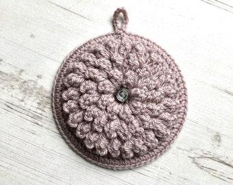 Chrysanthemum Flower Dot Eclectic Crochet Wall Hanging