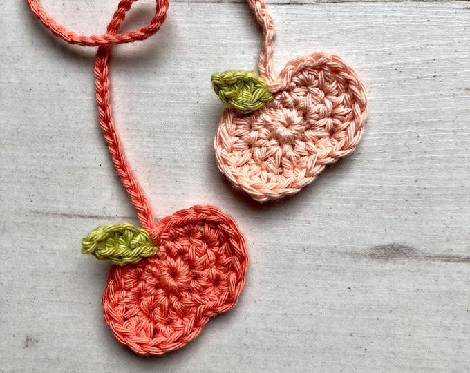 ECO Peach Organic Tiny Ties, Umbilical Cord Tie