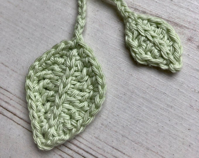 ECO Leaf Organic Tiny Ties, Umbilical Cord Tie, Double Ended Leaves, Vegan & Environmentally Friendly Recyclable