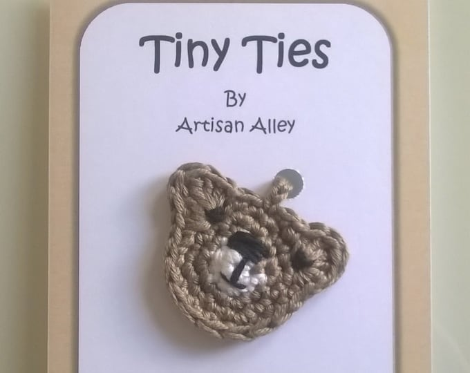 Teddy Bear Tiny Ties - Umbilical Cord Tie