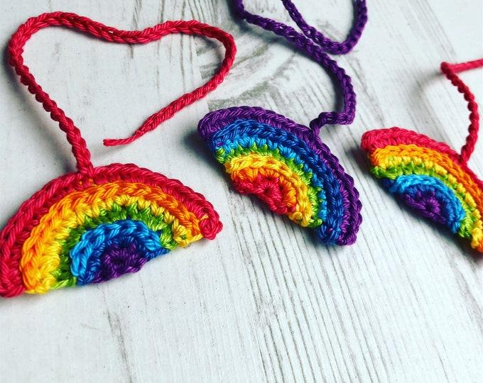 Rainbow Tiny Ties Bright - Umbilical Cord Tie - Unisex - Rainbow Baby