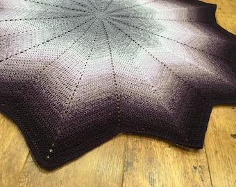 Star Shaped Purple Lavender Plum Baby /Toddler Blanket