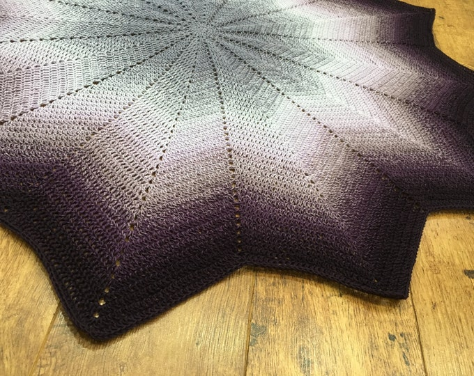 Star Shaped Purple Lavender Plum Baby /Toddler Blanket