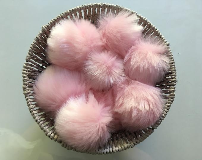 Baby Pink Faux Fur Pom Pom