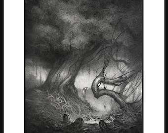 The Silent Grove  - A4 Fine Art Print - Signed and embossed - Fantasy Art