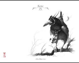 Karius - A4 Fine Art Print - Signed and embossed - Fantasy Art