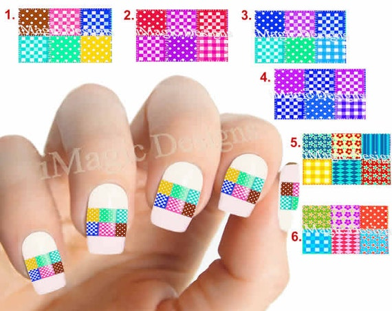 Nail Art Decals Stickers Water Slide Easy Nail Transfer Etsy
