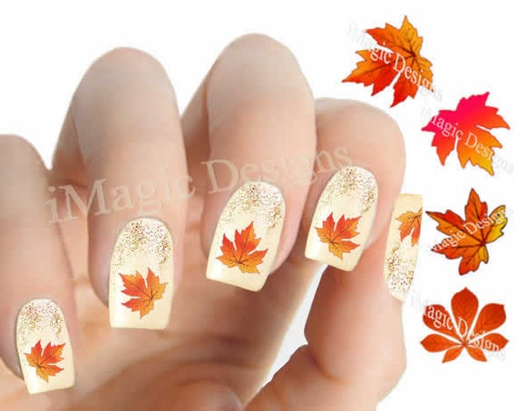 image 0 - Nail Decals Water Slide Nail Transfer Stickers For Autumn Etsy