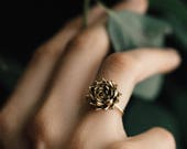 MADE TO ORDER Succulent Stacking Ring No. 5- Miniature Plant- Inspired Jewelry in Precious and Semi-Precious Metals