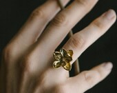 MADE TO ORDER Magnolia Ring- Flower Statement Jewelry in Silver, Brass, or Bronze