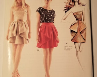 Simplicity Pattern 1689.P5 12-20 Misses Dresses Leanne Marshall Collection