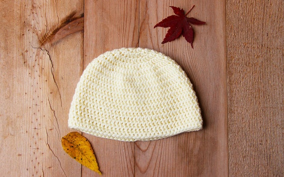 Cream Crochet Baby Hat - 6-12 Month Baby Hat - Baby Hats for Girls - Baby  Hats for Boys 2c8b5e8fc65