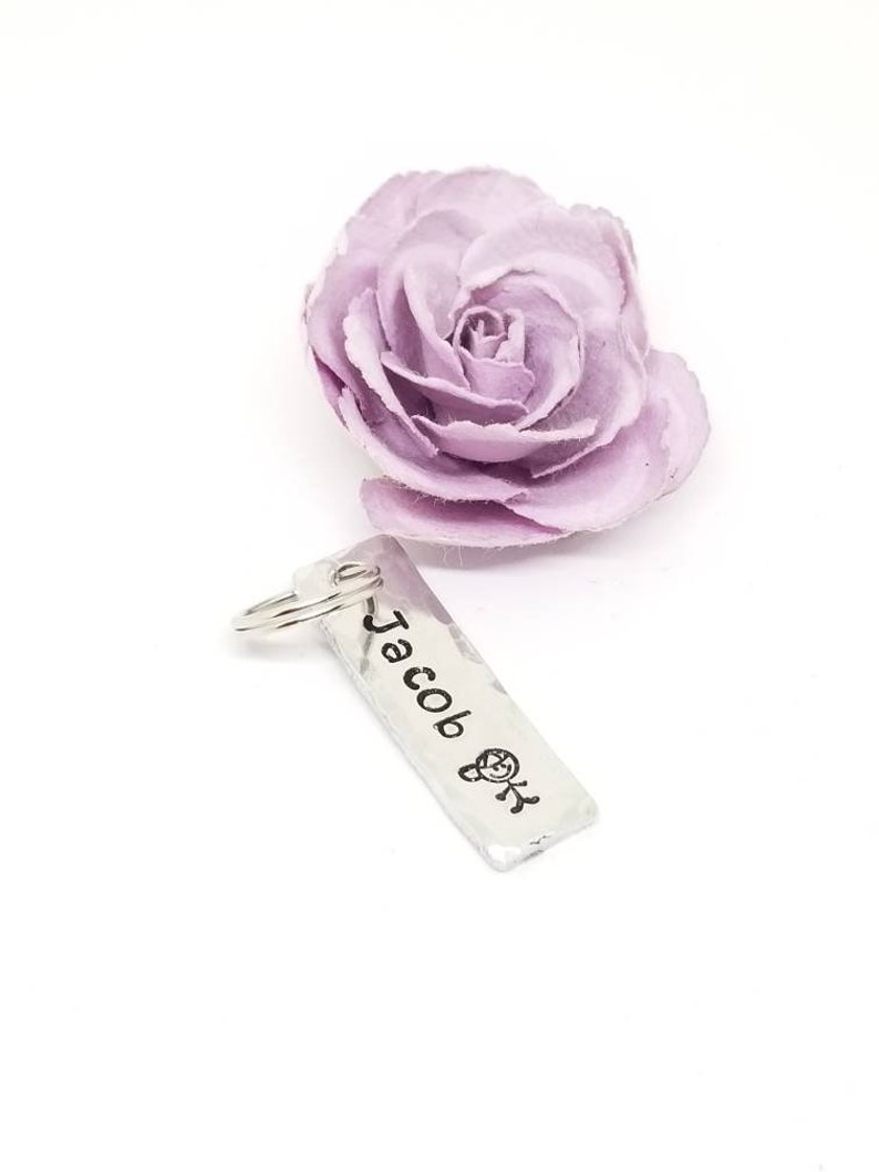 Name bar Add on Charm Hand stamped add on