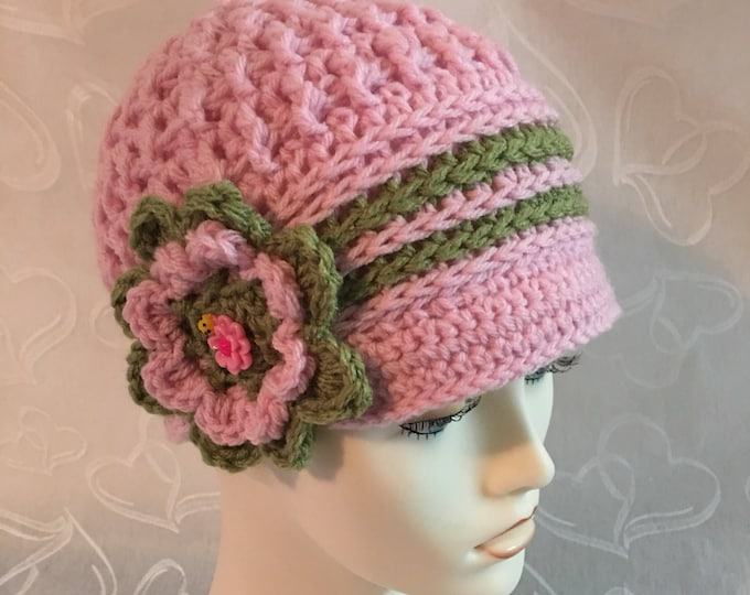 Crocheted Newsboy Caps-Cloche Hats-Womens Accessories -Hats-Vintage hats-1920's Style