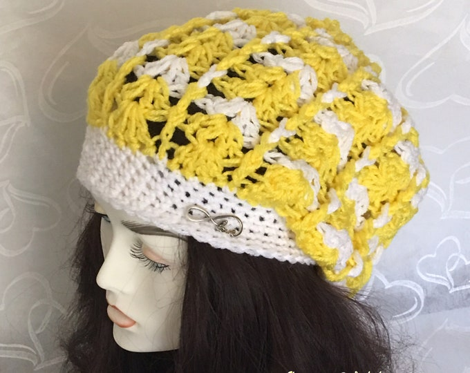 Women's Slouchy Hats-winter caps-Accessories -Yellow Hat-Crocheted Hat-Newsboy Caps- Women's Warm Hats
