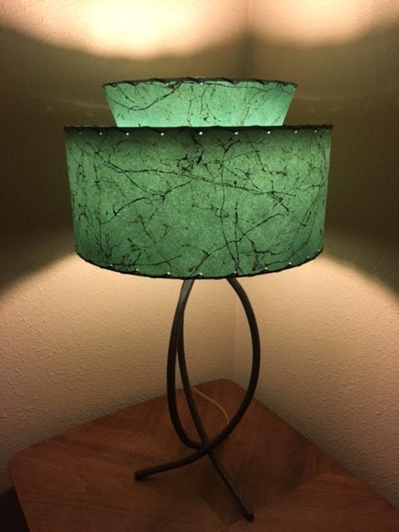 Spun orange fibrelass lamp shade