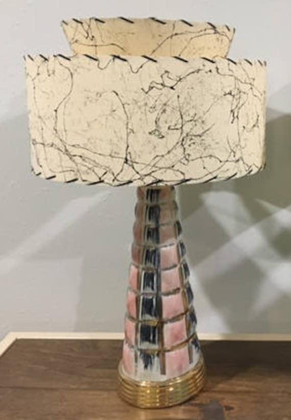 2 Tier Fiberglass Lamp Shade, Lamp Shades Old Style