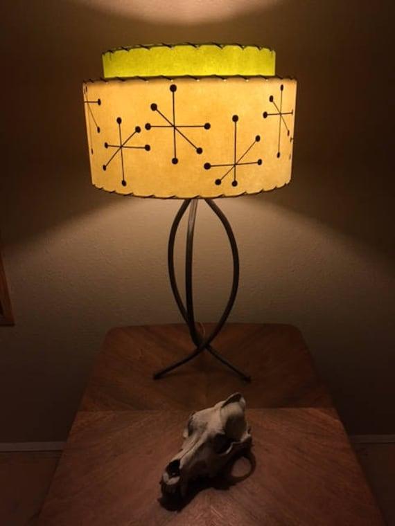 Stunning Mid Century Lamp Atomic Vintage Front Page | Mid