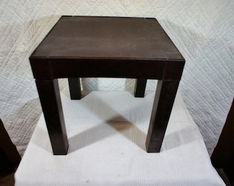 Genial Vintage Plastic Parsons Table Retro Side Table Stacking Removable Legs Dorm  Room Poolside 14x14 14 Cube Table End Table